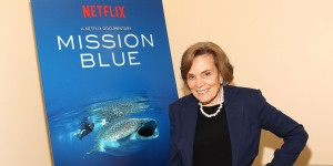 WASHINGTON, DC - JUNE 17:  Dr. Sylvia Earle poses for a photo at a special preview screening of the Netflix film Mission Blue at the National Geographic Society's Grosvenor Auditorium on June 17, 2014 in Washington, DC.  (Photo by Paul Morigi/Getty Images for Netflix)